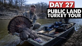 TURKEY HUNTING FROM A BOAT - Public Land Turkey Tour Day 27