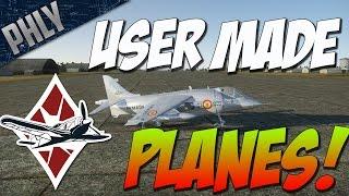 War Thunder Gameplay -  EPIC USER MADE PLANES! HARRIER & J-21 SAAB!