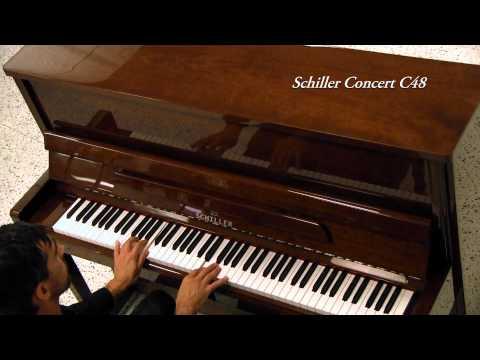 Schiller Concert C48 - Upright Piano - Walnut Polish