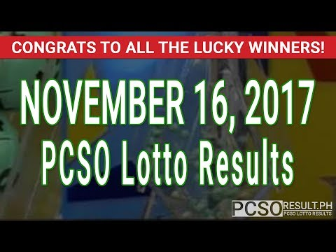 PCSO Lotto Results Today November 16, 2017 (6/49, 6/42, 6D, Swertres & EZ2)