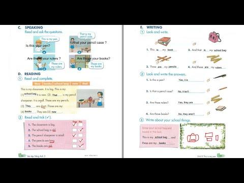 /Bài giảng Sách Bài tập/ Tiếng Anh 3 – Unit 8 – Trang 34+35 GDĐT