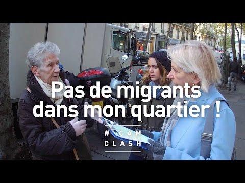 """""""Pas de migrants dans mon quartier !"""" - Cam Clash"""