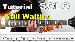 Como Tocar el Solo de Still Waiting de Sum41 en guitarra - Tutorial