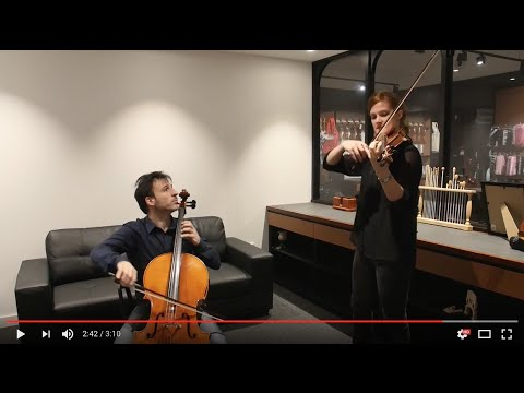 Larsen String Fitting with The Streeton Trio: Magnacore Cello & Virtuoso Violin