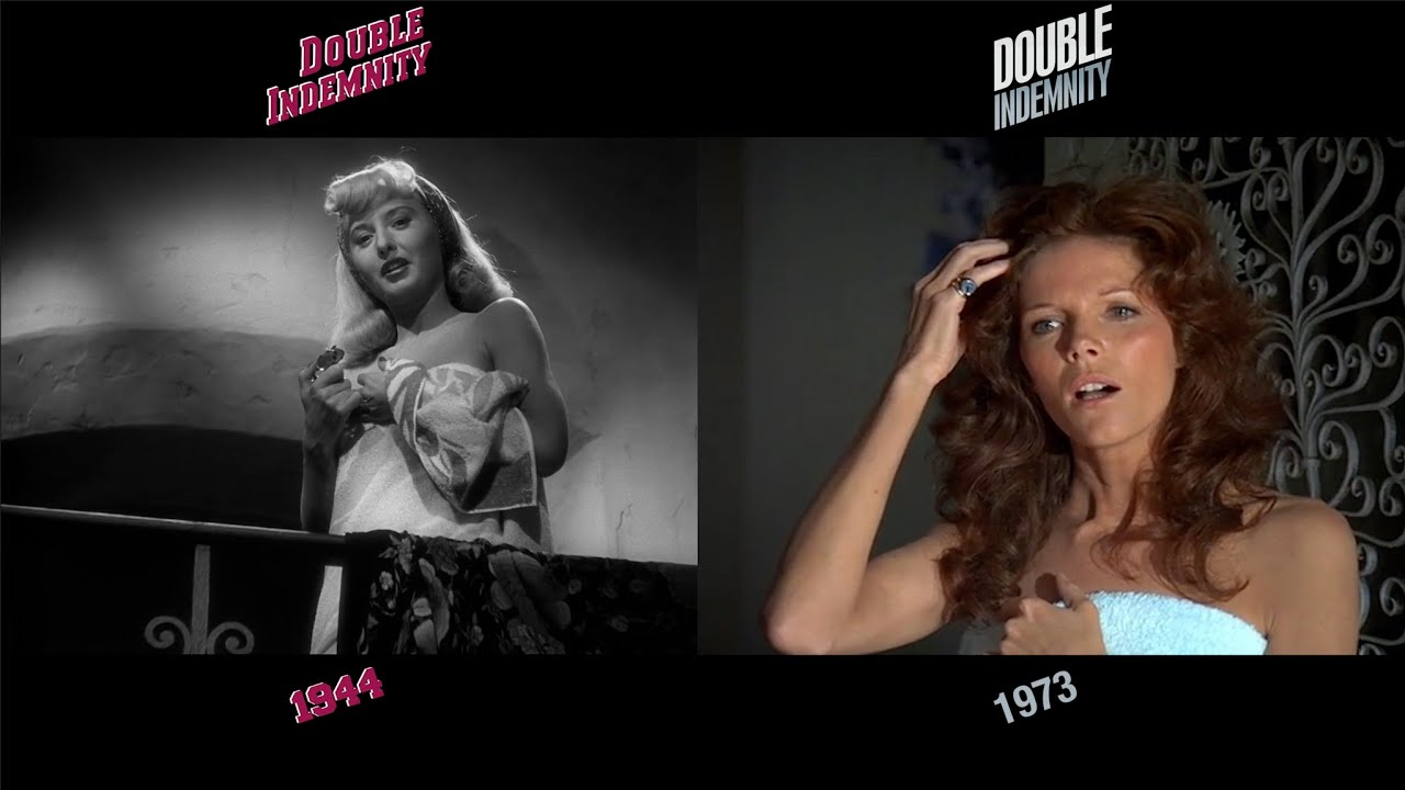Double Indemnity (1944/1973) side-by-side comparison