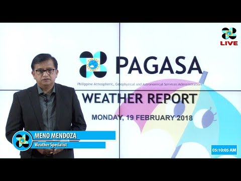 Public Weather Forecast Issued at 4:00 AM February 19, 2018
