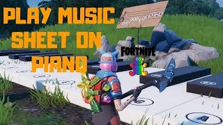 Fortnite - SEASON 7 CHALLENGE PLAY PIANO NEAR PLEASANT PARK AND LONELY LODGE