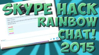 Skype Rainbow Text HACK! *NEW* (2017)