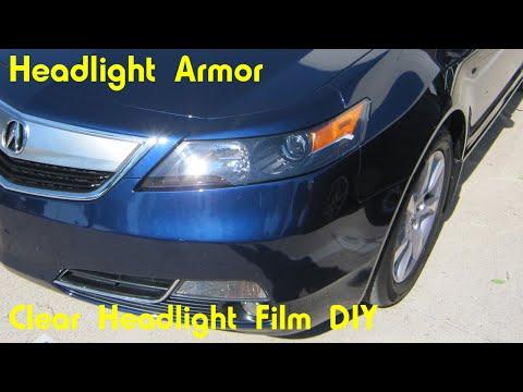 Clear Headlight Tint Protection Film DIY - Headlight Armor -  Acura TL