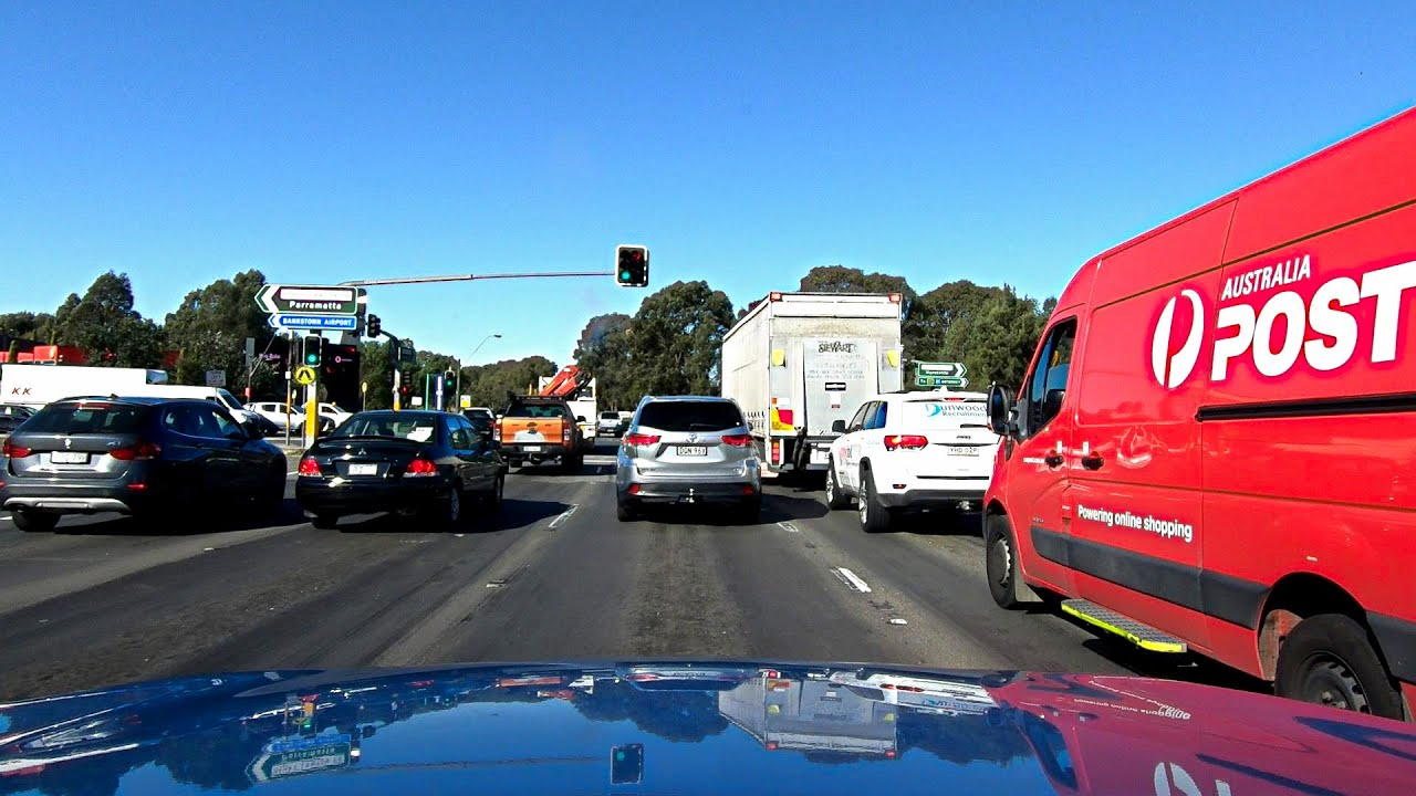Driving From Moorebank To Bankstown, Sydney Australia