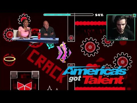 GuitarHeroStyles: 20-Year-Old Geometry Dash Player Beats Bloodbath - America's Got Talent 2017