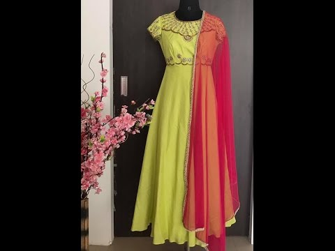 latest designer floor length dress - YouTube