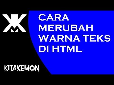 Cara Merubah Warna Teks Di HTML - YouTube