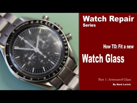 How to fit a new watch glass. Watch repair tutorials. Omega Watch.