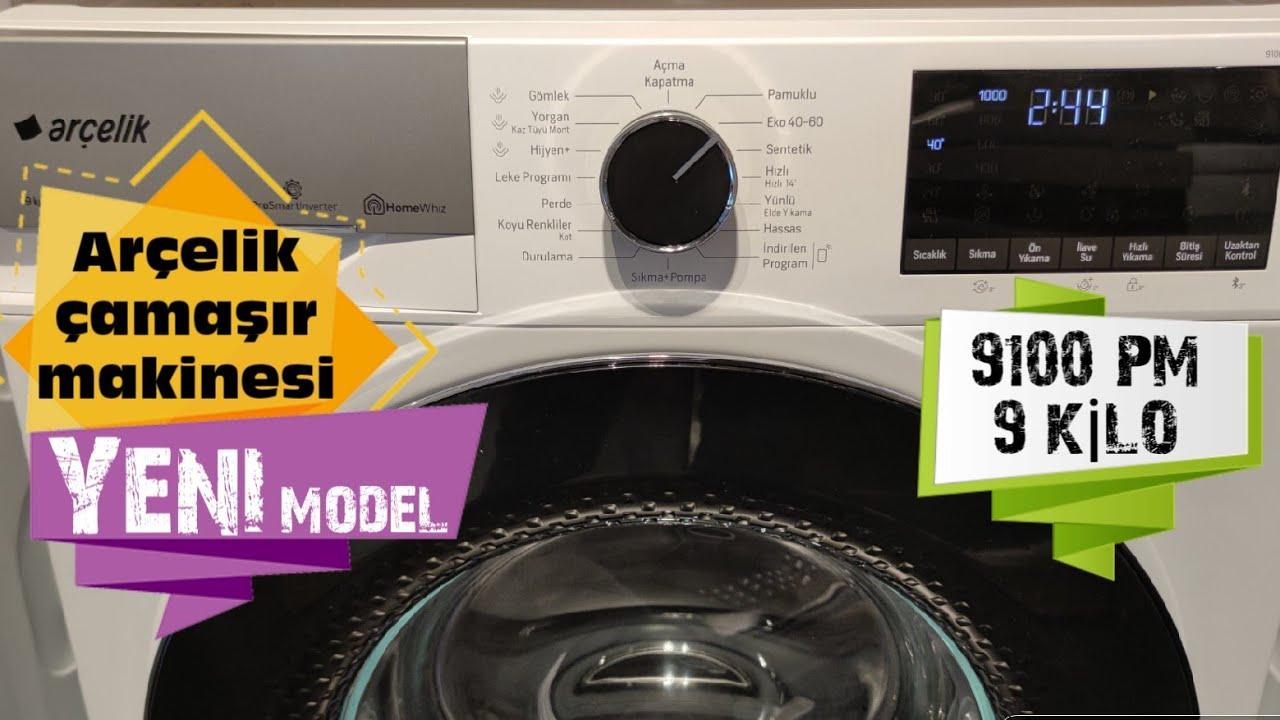 9100 PM Arçelik Yeni Çamaşır Makinesi   9 Kilo 1000 Devir A enerji Sınıfı   Detaylı İnceleme Videosu