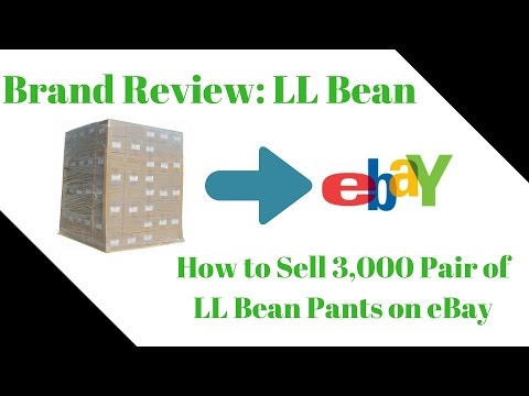 LL BEAN Brand Review - Clothing to Sell on eBay - Preparing for my Bulk Purchase - LIVE