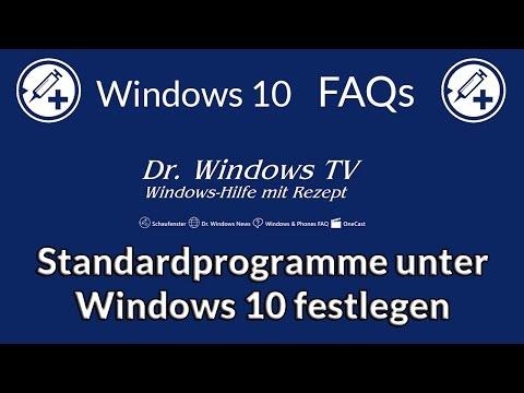 Standardprogramme Unter Windows 10 Festlegen - Windows 10 FAQs