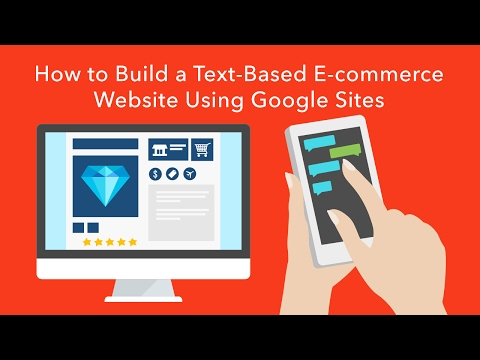 How to Build a Text-Based E-commerce Website Using Google Sites