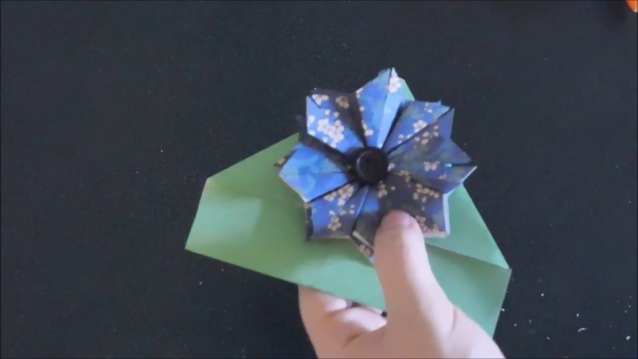 origami flower bookmark origami final youtube