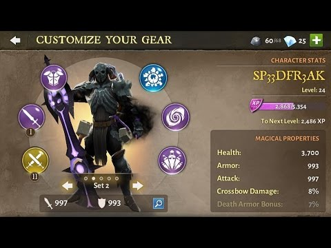 Dungeon Hunter 5 - Gear Evolution - League Rank Warrior 1