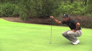 Tiger Woods on putting