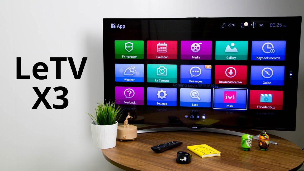 Телевизор Leeco X65S. Есть русский. Подробное описание на xmitv.ru .