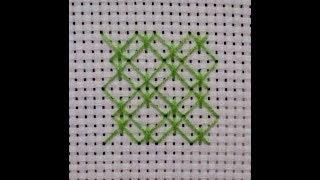 embroidery/вышивка крестом  12 способ заполнение фона вариант 2