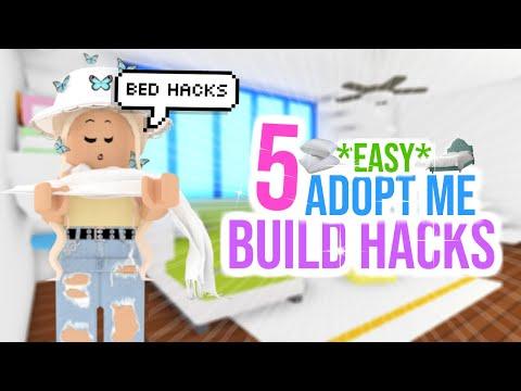 5 *EASY* BUILDING HACKS & TIPS in Adopt Me! *BEDS*   SunsetSafari