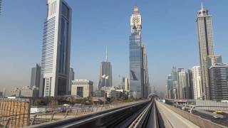 Dubai Metro: trip from airport to Burj Khalifa