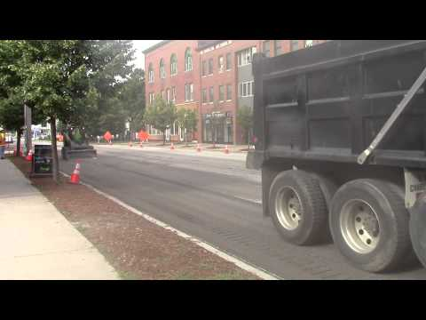Main Street Road Construction Enosburg Falls, VT July 3, 2014
