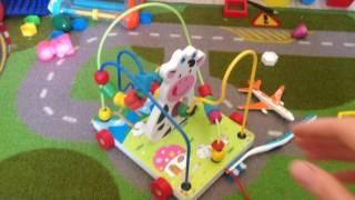 Лабиринт-каталка КОРОВКА (игрушки из дерева)
