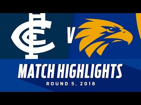 Carlton v West Coast Highlights - Round 5 2018 - AFL