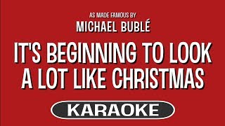 Download It's Beginning to Look a Lot Like Christmas - Michael Buble | Karaoke MP3 song and Music Video