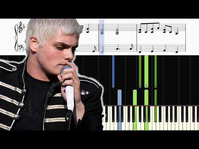My Chemical Romance Welcome To The Black Parade Easy Piano
