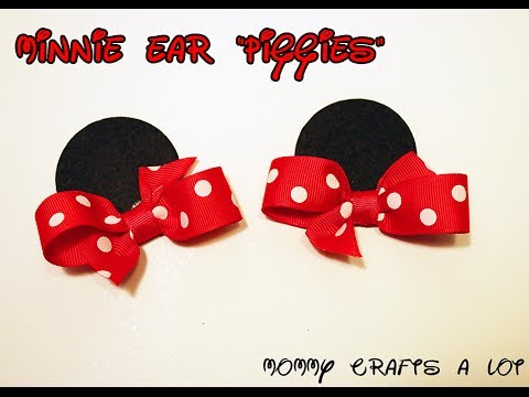 Minnie Mouse inspired ears hair bow tutorial How to make Minnie ...