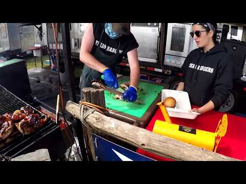 Sydney RibFest 2018 spray paint art