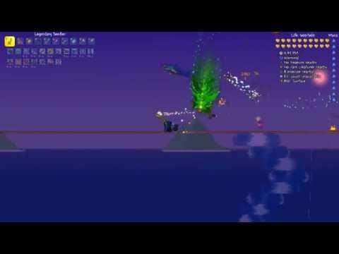 Terraria 1.3 - How To Kill Duke Fishron In Expert Mode (pre-Fishron Gear)