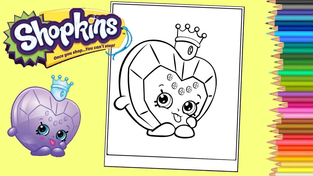 Coloriage Shopkins Princesse Coloring Shopkins Princess Scent Coloring Pages For Kids Youtube