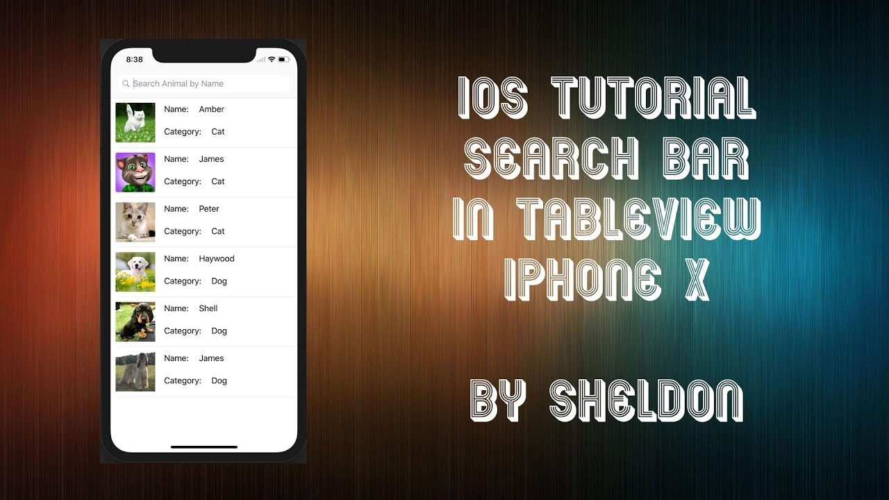 iOS Swift 4 Tutorial Search Bar in TableView #IOSbySheldon