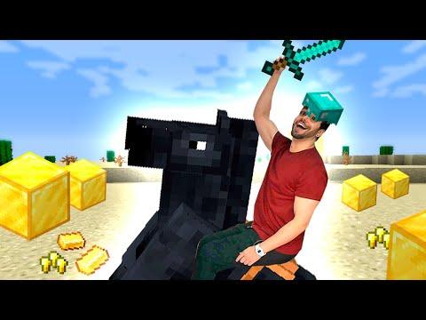 Domei um CAVALO Epicamente ÉPICO no Minecraft **ele é lindo**