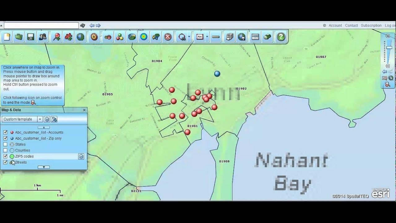 Geocoding Using Addresses Vs Zip Codes Map Business Online YouTube - Map a list of addresses