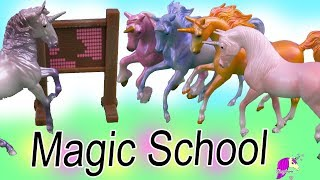 Magic School ! Unicorn Breyer Horses Stablemates Play Video