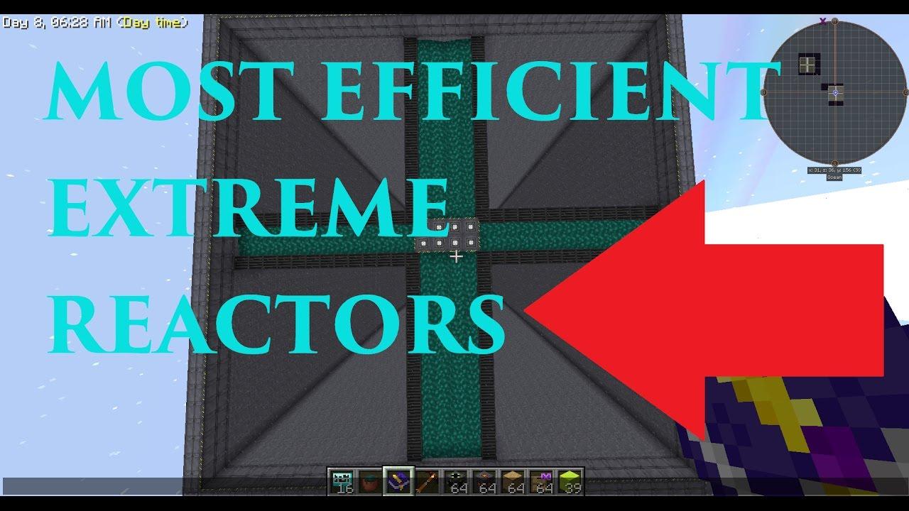 Most Efficient Extreme Reactors Design (Minecraft Mods) SkyFactory 3  (Spotlight)