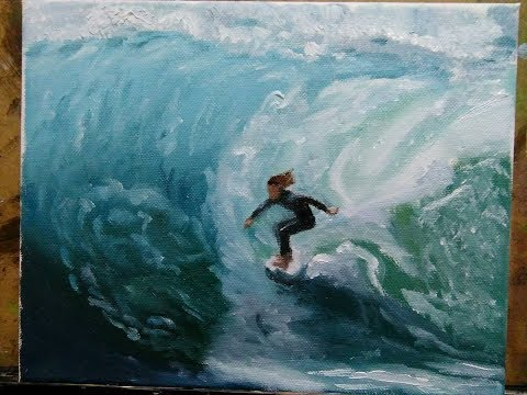 Surfer - Oily Painting #27
