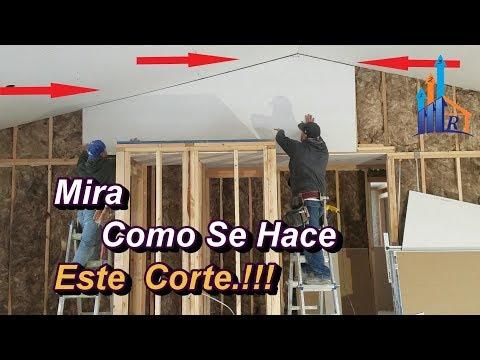 Cortar Drywall,picos  altos, puntas paso a paso el mejor metodo