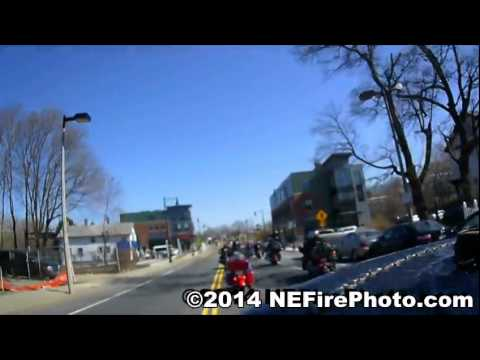 FF Michael Kennedy LODD Funeral Boston MA 04/04/2014