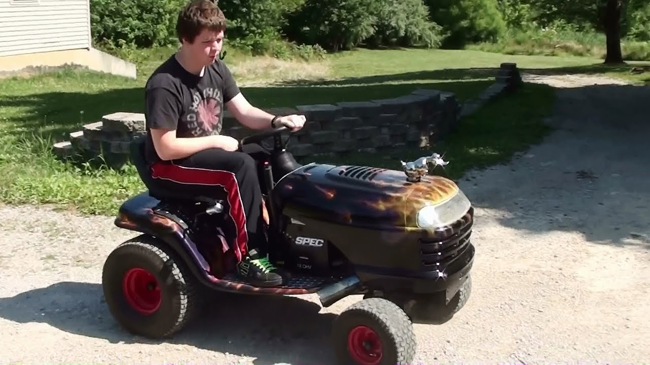 Craftsman Lt1000 Riding Mower >> Running and Driving Hot Rod Lawn Tractor - 18 HP Craftsman ...