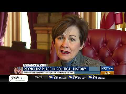 KSFY: Iowa GOP Gov Kim Reynolds Breaks Gender Barrier For State's Top Job