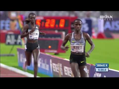 Ruth Jebet Smashes Globe Document İn Womens 3000m Steeplechase At Paris DL 2016 High Definition