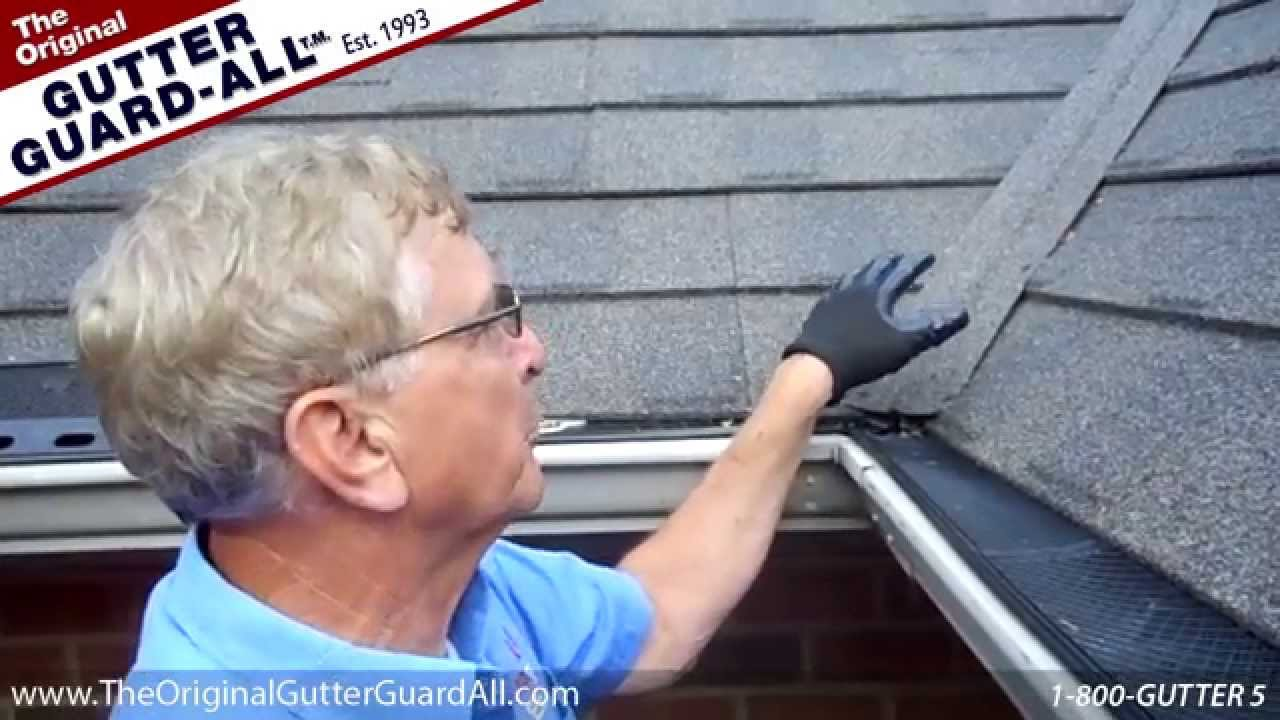 Gutter Guard All Roof Valley And Corners Youtube